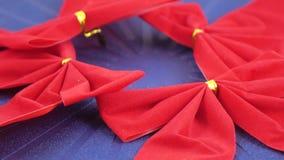 dekorativ red för bow stock video