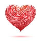dekorativ red för hjärta stock illustrationer