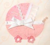 dekorativ rosa pram royaltyfri illustrationer