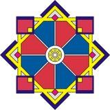 dekorativ rosette för geometri Arkivbilder