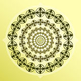 Dekorativ rund form Royaltyfria Bilder