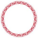 Dekorativ rund ram med östlig bevekelsegrund Fotografering för Bildbyråer