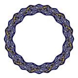 Dekorativ rund ram med östlig bevekelsegrund Royaltyfria Bilder