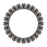 Dekorativ rund ram med prydnaden Fotografering för Bildbyråer