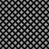 Dekorativ sömlös blom- diagonal geometrisk svart- & vitmodellbakgrund Invecklat material stock illustrationer