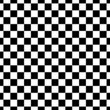Dekorativ sömlös blom- diagonal geometrisk svart- & vitmodellbakgrund Invecklat material vektor illustrationer