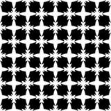 Dekorativ sömlös blom- geometrisk svart- & vitmodellbakgrund Royaltyfria Foton