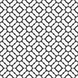 Dekorativ sömlös blom- geometrisk svart- & vitmodellbakgrund Royaltyfri Bild