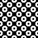 Dekorativ sömlös blom- geometrisk svart- & vitmodellbakgrund Arkivfoton