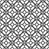 Dekorativ sömlös blom- geometrisk svart- & vitmodellbakgrund Arkivbilder