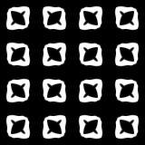 Dekorativ sömlös blom- geometrisk svart- & vitmodellbakgrund Arkivbild