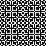 Dekorativ sömlös blom- geometrisk svart- & vitmodellbakgrund Arkivfoto