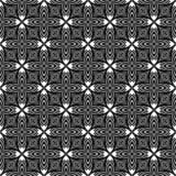Dekorativ sömlös blom- geometrisk svart- & vitmodellbakgrund Blommor geometri vektor illustrationer