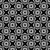 Dekorativ sömlös blom- geometrisk svart- & vitmodellbakgrund Blommor geometri royaltyfri illustrationer