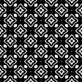 Dekorativ sömlös blom- geometrisk svart- & vitmodellbakgrund Innegrej diagram royaltyfri illustrationer