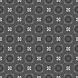 Dekorativ sömlös blom- geometrisk svart- & vitmodellbakgrund Innegrej diagram vektor illustrationer