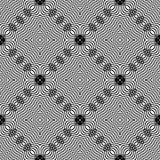 Dekorativ sömlös linje modell Arkivfoton