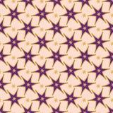 Dekorativ sömlös vektormodell för moderiktiga purpurfärgade stjärnor stock illustrationer