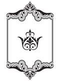 Dekorativ samling för element för kantramdesign Arkivbild