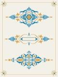 Dekorativ samling för element för kantramdesign Arkivfoto