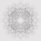 Dekorativ sammansättning för centripetal tracery Dekorativ utsmyckad modell av krökta linjer Royaltyfri Fotografi