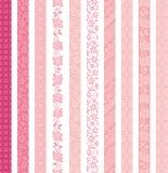 dekorativ set för baner Snöra åt klippningar Arkivbilder