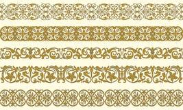 dekorativ set fem för kanter Royaltyfri Fotografi