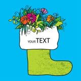 Dekorativ sko för din design lycklig sommar Stock Illustrationer