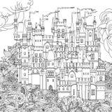 Dekorativ slott från en saga Arkivbilder