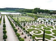 dekorativ slott versailles för härliga trädgårdar Royaltyfri Fotografi