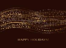 Dekorativ snövåg för jul Fotografering för Bildbyråer