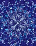 dekorativ snowflake Royaltyfri Bild