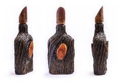 Dekorativ stam för träd för vinflaska stiliserad Arkivbild