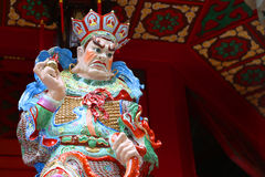 Dekorativ staty på Hong Kong Temple Arkivbilder
