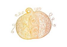 Dekorativ stil av pumpa royaltyfri illustrationer