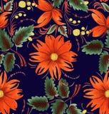Dekorativ stiliserad blomma stock illustrationer