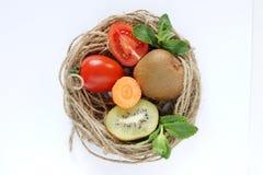 Dekorativ stillife med grönsaker Royaltyfri Bild
