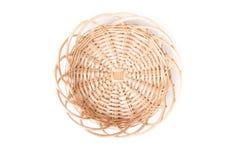 Dekorativ strawy korg Arkivbild
