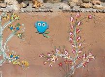 Dekorativ stuckaturvägg, klorid, Arizona royaltyfri fotografi