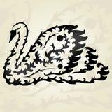 Dekorativ svan vektor illustrationer