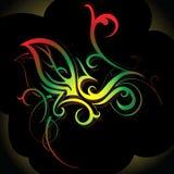 dekorativ swirl Arkivfoto