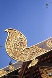 Dekorativ takdetalj i laotiskt Royaltyfri Fotografi