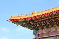 Dekorativ takfot av den kinesiska templet Royaltyfria Bilder