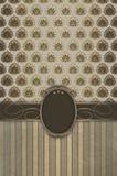 Dekorativ tappningbakgrund med den eleganta ramen Arkivbilder