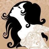 dekorativ tappningkvinna för closeup Arkivbilder
