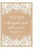 Dekorativ tappningram för att gifta sig inbjudningar Royaltyfria Foton