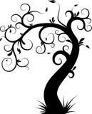 dekorativ tree royaltyfri illustrationer