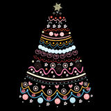 dekorativ tree för jul Arkivfoton