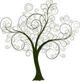 dekorativ treevektor Royaltyfri Fotografi