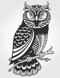 Dekorativ uggla stock illustrationer